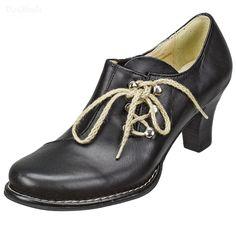 Dirndl-Schuhe Elsa, schwarz, Trachtenschuhe für Damen   Dirndltopia