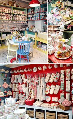Cath kidston London kitchen by Tea on the moon