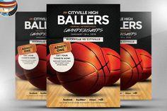 Basketball Flyer Template by FlyerHeroes on @creativemarket