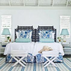 Indigo bedroom beach dreams