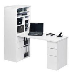 Schreibtischkombination Leela - Hochglanz Weiß