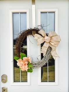 Spring Wreath Everyday Wreath Hydrangea Wreath Natural