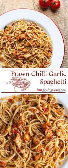 Pinterest Prawn Chilli Garlic Italian Spaghetti Pasta Recipe