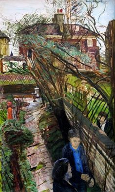 The Broken Trellis 1974 - Exhibited at New Grafton Gallery 1979, Artists letter to reverse by Carel Weight RA, CBE