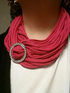 I am having so much fun with these t-shirt infinity scarves!