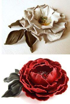 цветы из кожи своими руками- видео и фото уроки
