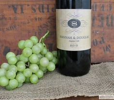 free printable wine bottle labels | Winery Wedding Invitation + Free Printable…