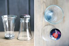 How To Cut Glass Bottles to Make Shot Glasses By DIY Ready. http://diyready.com/23-more-awesome-man-cave-ideas/