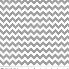 Riley Blake Designs - Chevron - Small Chevron in Gray  So many colors of this pattern if you like chevron