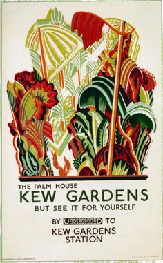 To Kew Gardens by London Underground, 1926 vintage travel poster reprint London Underground, Underground Tube, Kew Gardens London, London Transport Museum, London Poster, Railway Posters, Train Posters, Vintage London, Party Poster