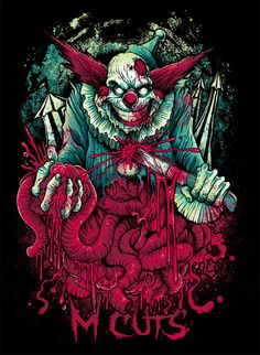 Stunning Horror Art by Brandon Heart - Cruzine Zombie Kunst, Arte Zombie, Zombie Art, Arte Horror, Horror Art, Clown Horror, Creepy Clown, Evil Clowns, Dope Art