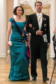 Prince Pavlos of Greece escorted mrs Jenny Haukio, wife of president Sauli Niinistö, at the gala dinner in Oslo, May 9, 2017
