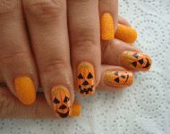 Halloween nails by Mariela Marinova #nails #nailart #halloweennails