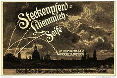 Original-Werbung/ Anzeige 1910 - STECKENPFERD LILIENMILCH-SEIFE  - ca. 140 x 90…