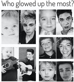 """No one """"glew up"""" because they were cute throughout though"""