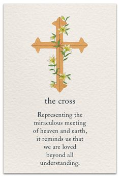 Inside message: God be with you on Easter and always. #cardthartic #greetingcard #easter #eastercard #cross #stationary #meaningsoflife #greetingcards