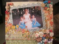 Layout: Secret Gardem Bridal Layout Graphic 45, Layouts, Scrapbook, Gallery, Frame, Projects, Painting, Inspiration, Garden