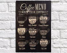 Café signes murale en bois art café imprimé décor rustique à la maison café cadeau pour femme cadeau pour cadeau homme cadeau ami art bois de panneau effet