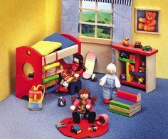 Das Selecta Ronda Kinderzimmer besteht aus einem Hochbett mit Bettzeug, Strickleiter und Schreibtisch unter dem Bett. Desweiteren wird ein Regal, ein Hocker, ein Klappsessel, der für Gäste in ein Bett umfuntioniert werden kann und ein Wandbild mitgeliefert. 19,99 €