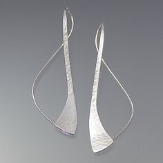 Path Earrings by Susan Panciera: Silver Earrings available at www.artfulhome.com