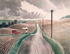 Eric Ravilious, Wiltshire Landscape.