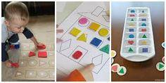 Resultado de imagen para rompecabezas para niños de preescolar de figuras geometricas