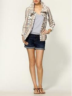 I love the idea of this print Jacket, I'm always wearing solids.