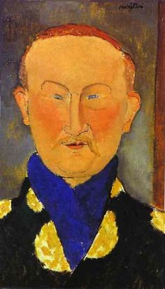 Portrait of Leon Bakst. 1917. Oil on canvas. 55.3 x 33 cm. The National Gallery of Art, Washington, DC, USA