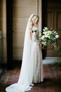 Luke and Tygar's chic and elegant wedding, featuring our Inca gown and La Nouvelle bridesmaids collection.