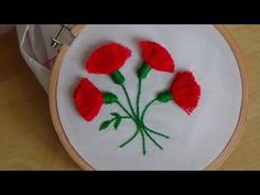 Hand Embroidery: Tassel Stitch (Flowers) - YouTube