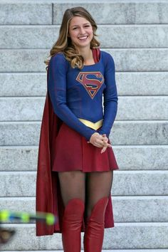 Only Supergirl (Melissa Benoist) would have the power and strength to hold such a massive pair of huge tits. Melissa Marie Benoist, Supergirl Superman, Supergirl And Flash, Supergirl Halloween, Supergirl 2015, Videl Cosplay, Melissa Supergirl, Kara Danvers Supergirl, Cw Series
