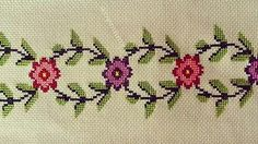 This Pin was discovered by Hul Cross Stitch Borders, Cross Stitch Alphabet, Cross Stitching, Cross Stitch Embroidery, Cross Stitch Patterns, Knit Patterns, Embroidery Patterns, Bargello, Needlework