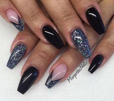 Blk & Charcoal grey glitter