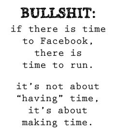 make time to sweat