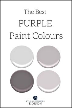 The best purple paint colours, Benjamin Moore Sherwin Williams. Kylie M Interiors Edesign, virtual online paint color consulting paint colors grey The 9 Best Benjamin Moore Purple Paint Colours (and undertones) Grey Purple Paint, Warm Gray Paint, Grey Paint Colors, Gray Color, Warm Grey, Neutral Paint, Benjamin Moore Purple, Benjamin Moore Paint, Grey Bedroom Paint
