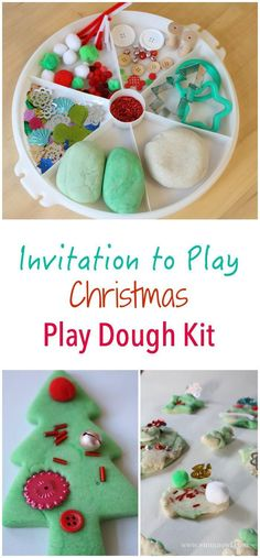 Christmas Themed Inv Christmas Themed Invitation to Play - featuring peppermint play dough snow dough and lots of sparkles! The perfect play creative and sensory kids activity in one! Preschool Christmas, Toddler Christmas, Christmas Themes, Christmas Holidays, Prim Christmas, Winter Holidays, Holiday Activities, Activities For Kids, Christmas Toddler Activities