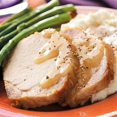 Country-Style Pork Loin with Gravy Recipe -This slow cooker recipe is a perfect end to the day. Serve mashed potatoes as a comforting side and the meal is complete!—Corina Flansberg, Carson City, Nevada