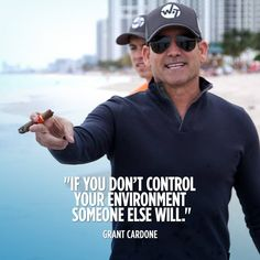 If you dont control your environment, someone else will - grant cardone quotes Wisdom Quotes, Quotes To Live By, Life Quotes, Faith Quotes, Quotes Quotes, Grant Cardone Quotes, Motivational Quotes, Inspirational Quotes, Lyric Quotes