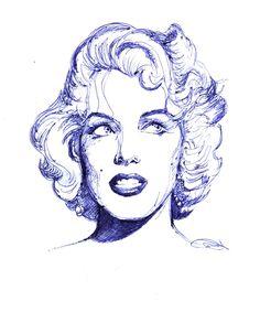 Marilyn pen drawing