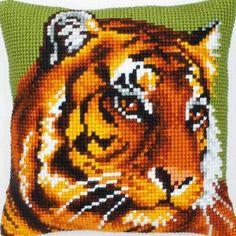 Tiger - almohadón en punto de cruz - Vervaco