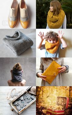 mustard and grey clothes and things