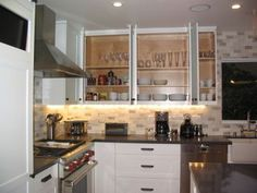 we unpacked and organized this beautiful kitchen...