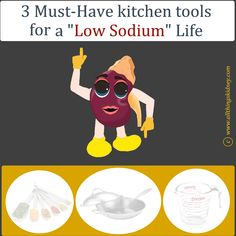 Low Sodium Renal Diet: 3 must-have tools Kidney Friendly Diet, Human Kidney, Low Sodium Diet, Renal Diet, Must Have Tools, Kidney Health, Dishwashing Liquid, Health Facts, You Gave Up
