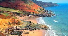 The beautiful Devonshire coast, England
