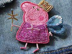 Вышиваем брошку «Свинка Пеппа». - Ярмарка Мастеров - ручная работа, handmade