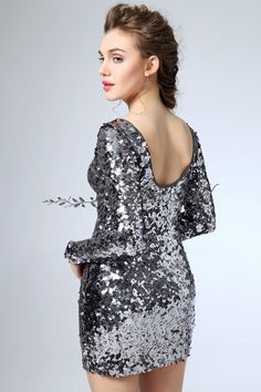Sexy-Backless-Women-Formal-Dresses-2015-Long-Sleeve-Club-Dresses-Silver-Sequins-Mini-winter-dress-vestidos.jpg (600×900)