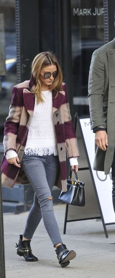 Olivia Palermo and Johannes Huebl in NYC