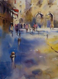 Viktoria Prishedko - watercolor #watercolor jd