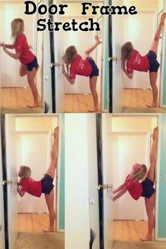 door frame stretch also learn how to do splits gotta try