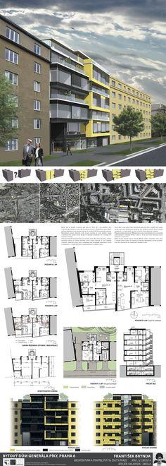 Studentský projekt. LS 2013/2014. FSv ČVUT v Praze. Presentation, Multi Story Building, Tower, Architecture, Presentation Board Design, Arquitetura, Rook, Lathe, Architecture Illustrations